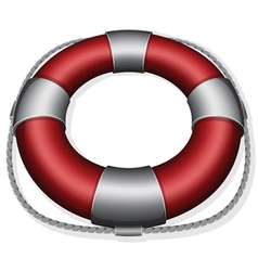 marines red life buoy vector image