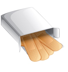 A box of band-aids vector