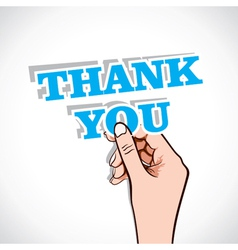 Thank you sticker in hand vector