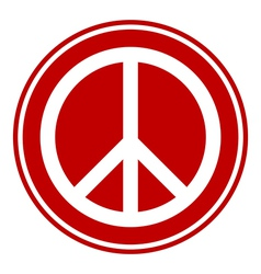 Peace symbol button vector