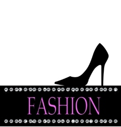 Fashion with black shoe in the background vector