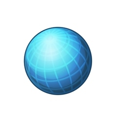 Blue Globe Network Icon on White Background vector image