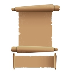 Old scroll paper isolated on white vintage paper vector