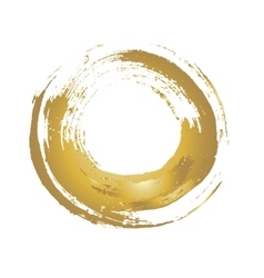 Golden grunge circle vector