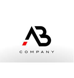 a b logo a b letter design vector image vector image