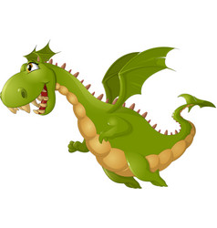 Angry dragon cartoon vector