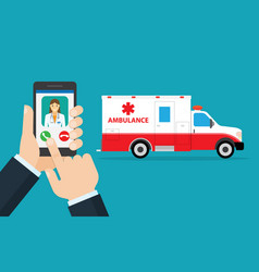 application to call ambulance vector image vector image