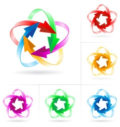 arrow circles vector image vector image