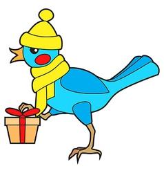 bird gift vector image vector image