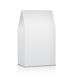 blank paper food bag package of coffee salt vector image