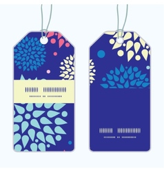 Colorful bursts vertical stripe frame pattern tags vector