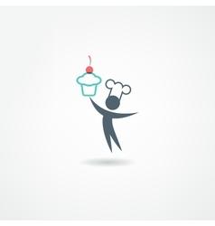 Eatery icon vector