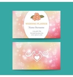 Elegant feminine business card template vector