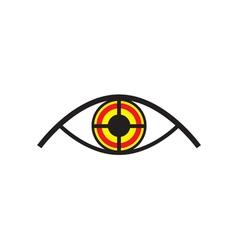 Eye Looking Like Target vector image vector image
