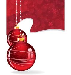 Glowing christmas balls vector
