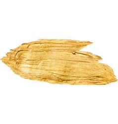 Gold foil glitter brush stroke design vector