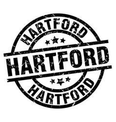 Hartford black round grunge stamp vector