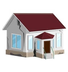 House destroyed cracks in walls of home property vector