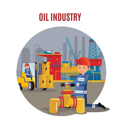 industrial petrochemical factory template vector image vector image