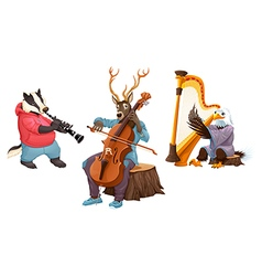 Isolated musicians vector