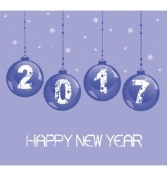 New year decoration 2017 with glass balls vector