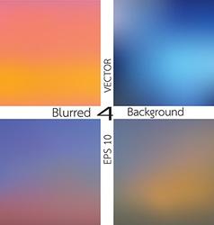Set of 4 blurred background vector
