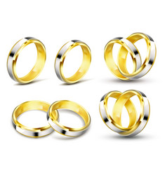 Set of realistic of gold vector