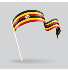 Ugandan wavy flag vector image vector image