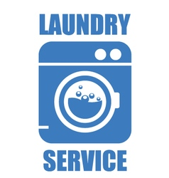 Laundry washhouse service simple icon vector image