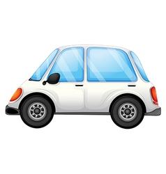 A white car vector