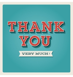 Thank you card vector image