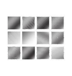 12 black and white stripe patterns set vector image vector image