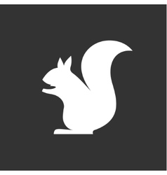 Squirrel sits in monochrome minimalism vector