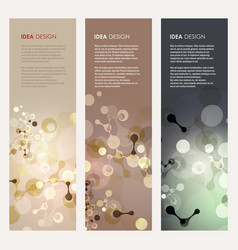 Abstract molecules design vector
