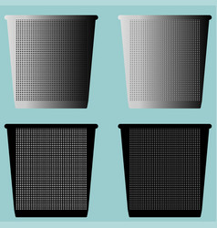 Bucket pail serene or dustbin with metal for vector