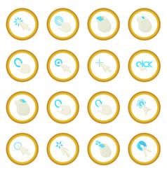 Mouse pointer icon circle vector