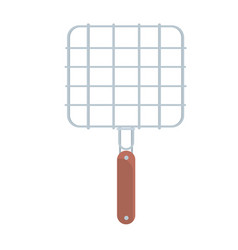 steel barbecue grill grid vector image