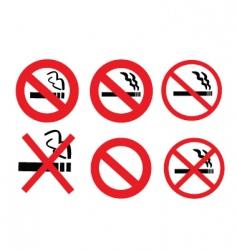 2008185 no smoking sign 3 vector image