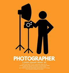 Photographer graphic symbol vector