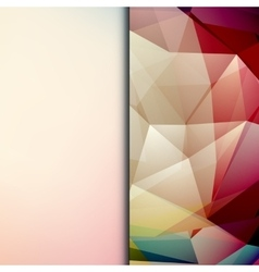 Abstract geometric polygonal shiny background vector