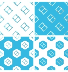 Film strip patterns set vector