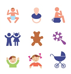 Children symbols vector