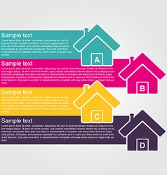 Infographic design style colorful house vector