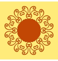 Mandala pattern print on yellow background vector