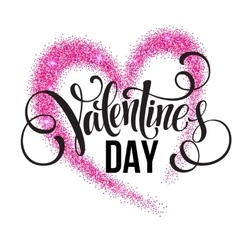 Sparkle glitter valentines day heart vector