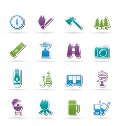 Travel and tourism icons vector