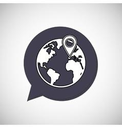 Call center design global communication flat vector