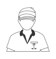 Avatar man with sports clothes and cap vector