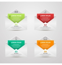 Abstract paper envelope infographics number vector image vector image
