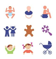 Children symbols vector image